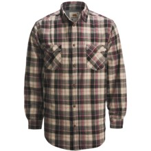 Dakota Grizzly Spencer Flannel Shirt - Long Sleeve (For Men) in Raven - Closeouts