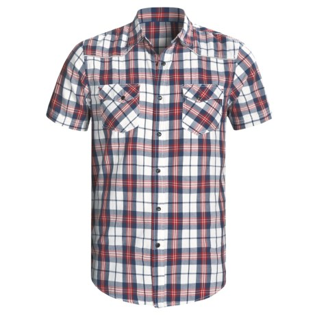 Dakota Grizzly Tate Plaid Shirt - Two-Pocket, Short Sleeve (For Men) in Navy