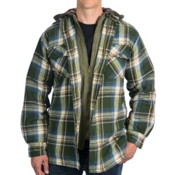 Dakota Grizzly Tioga Hooded Jacket - Flannel, Quilted Lining (For Men) in Moss