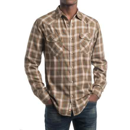 Dakota Grizzly Trevor Flannel Shirt - Snap Front, Long Sleeve (For Men) in Tea - Closeouts