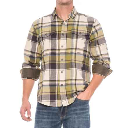 Dakota Grizzly Turner Herringbone Flannel Shirt - Cotton, Long Sleeve (For Men) in Moss - Closeouts