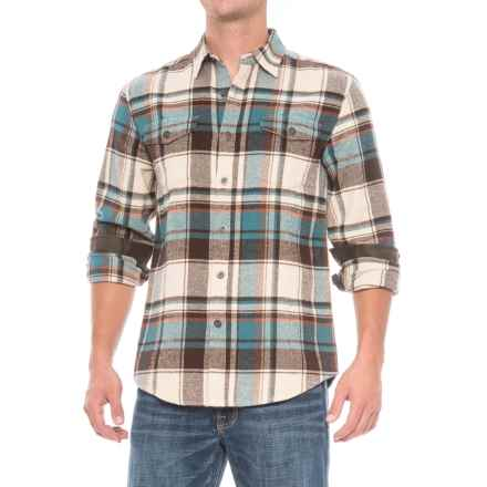 Dakota Grizzly Turner Herringbone Flannel Shirt - Cotton, Long Sleeve (For Men) in Storm - Closeouts