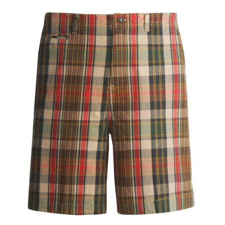 Dakota Grizzly Wally Plaid Shorts (For Men) in Cactus