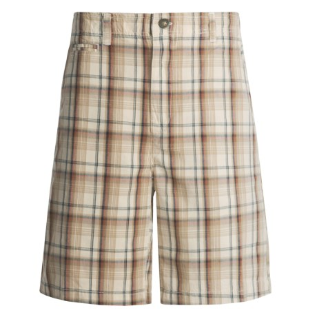 Dakota Grizzly Wally Plaid Shorts (For Men) in Wheat