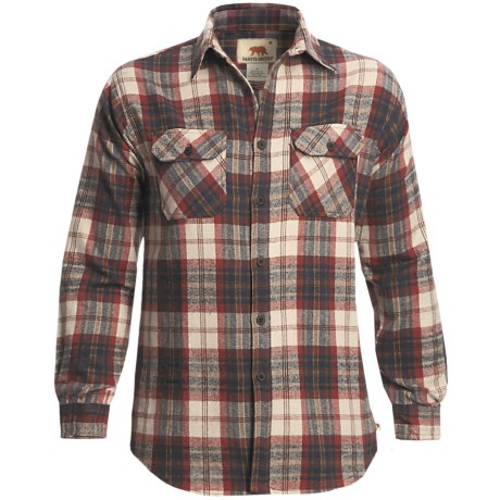 Dakota Grizzly Woodsman Brawny Flannel Shirt - Long Sleeve (For Men) in Ocean