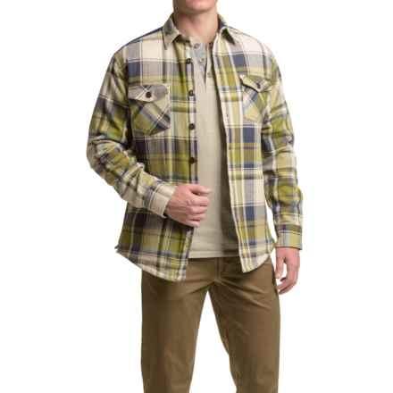 Dakota Grizzly York Herringbone Flannel Shirt - Long Sleeve (For Men) in Moss - Closeouts