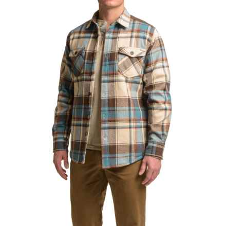 Dakota Grizzly York Herringbone Flannel Shirt - Long Sleeve (For Men) in Storm - Closeouts