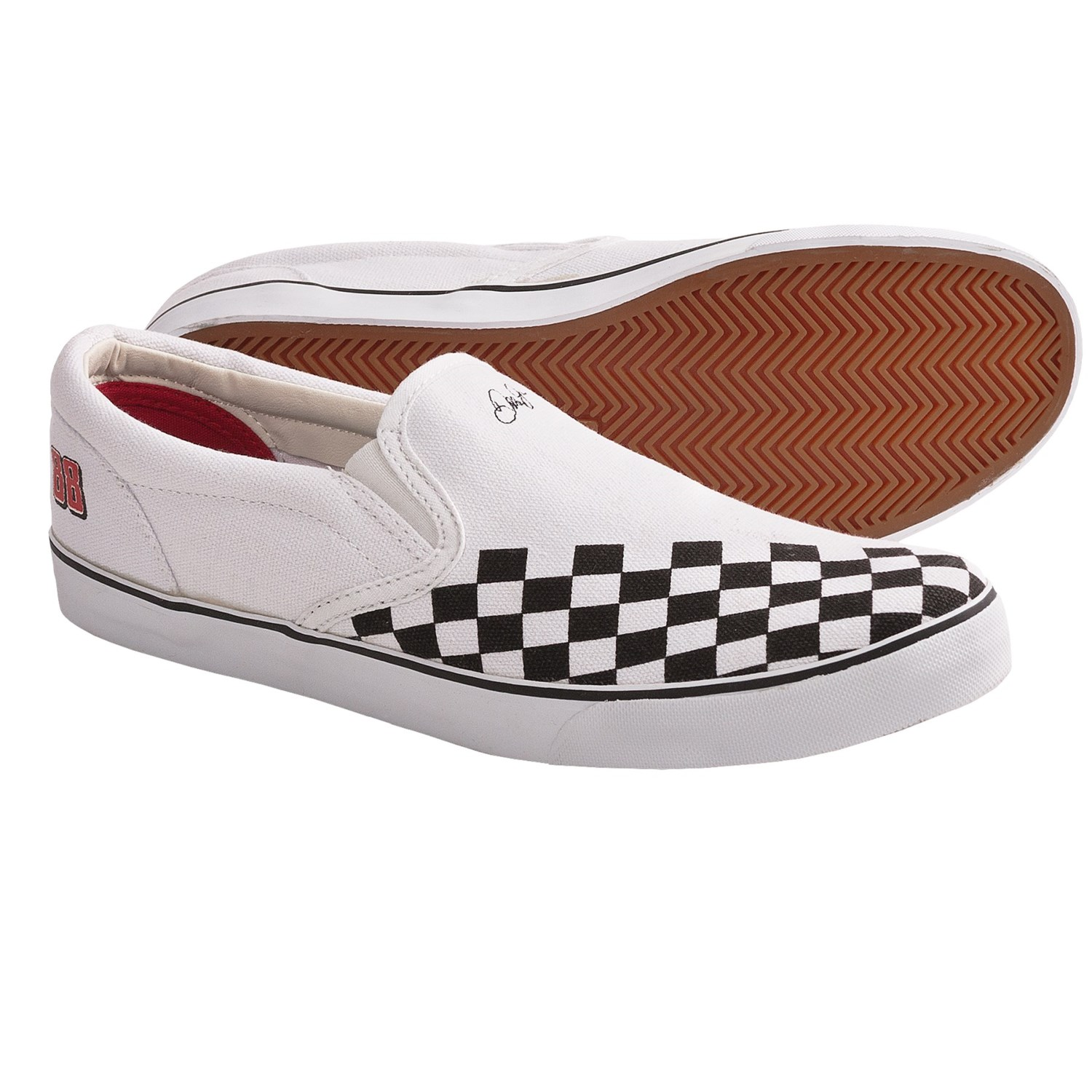 Dale Jr. Pit Crew Shoes - Canvas, Slip-Ons (For Men) in White