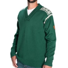 Dale of Norway Alpina Sweater - Wool (For Men) in Bottle Green/Cream - Closeouts