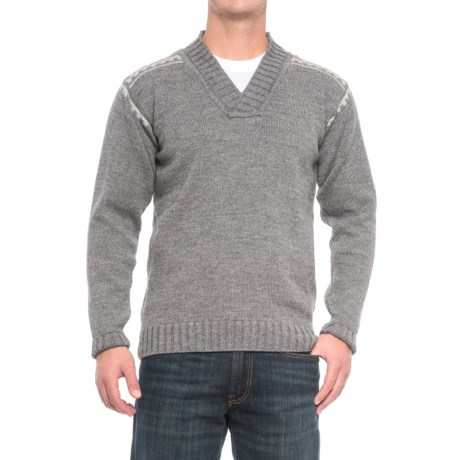 Dale of Norway Alpina Sweater - Wool (For Men) in Light Grey