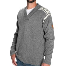 Dale of Norway Alpina Sweater - Wool (For Men) in Smoke/Light Charcoal - Closeouts
