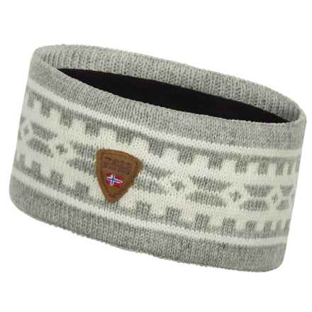 Dale of Norway Alpina Wool Headband (For Women) in Light Charocal/Cream - Closeouts