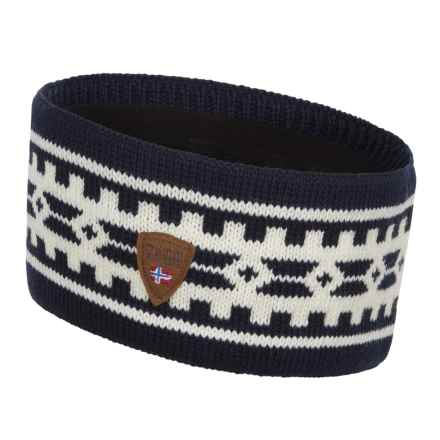 Dale of Norway Alpina Wool Headband (For Women) in Navy/Cream - Closeouts