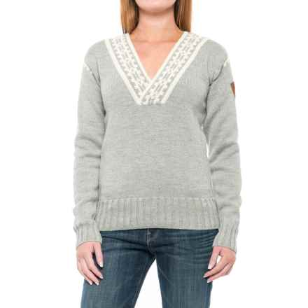 Dale of Norway Alpina Wool Sweater (For Women) in Light Charocal/Cream - Closeouts