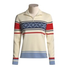 Dale of Norway Are Pullover Sweater - Merino Wool (For Women) in Off White/Raspberry/Midnight Navy/Glacier - Closeouts