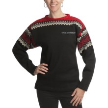 Dale of Norway Bislett Norwegian 2010 Team Sweater - New Wool (For Women) in Black/Natural/Raspberry - Closeouts