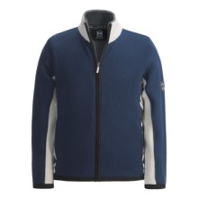 Dale of Norway Blafjell Wool Sweater - Water Repellent in Blue/White - Closeouts