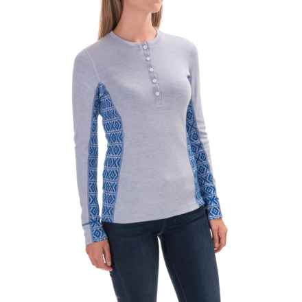 Dale of Norway Bykle Feminine Sweater - Merino Wool (For Women) in White/Cobalt - Closeouts