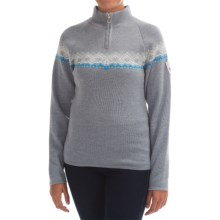 Dale of Norway Calgary Sweater - Merino Wool, Zip Neck (For Women) in Smoke/Light Charcoal - Closeouts