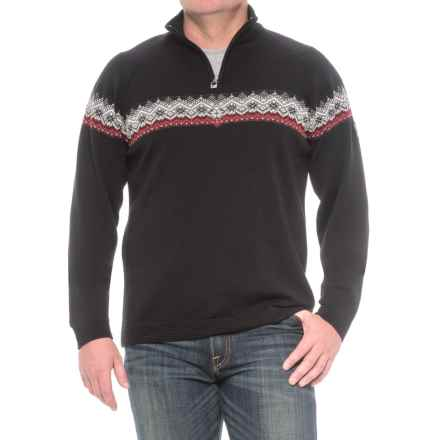 Dale of Norway Calgary Zip Neck Sweater - Merino Wool (For Men) in Black - Closeouts