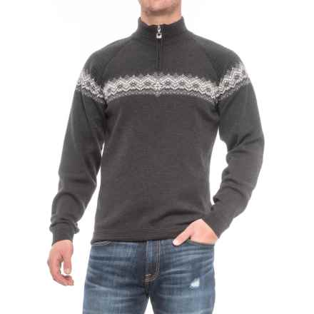 Dale of Norway Calgary Zip Neck Sweater - Merino Wool (For Men) in Light Grey - Closeouts