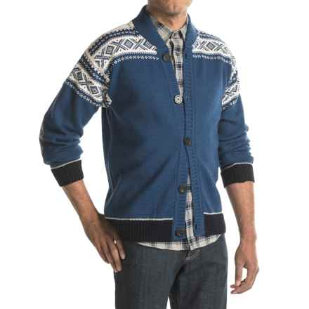 Dale of Norway Cortina Bomber Jacket - New Wool, Button Up (For Men) in Indigo - Closeouts
