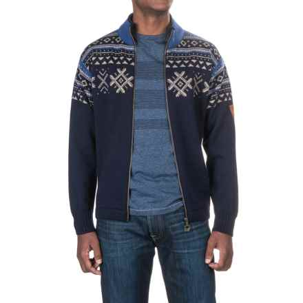 Dale of Norway Dovre Jacket - New Wool, Zip Front (For Men) in Indigo - Closeouts