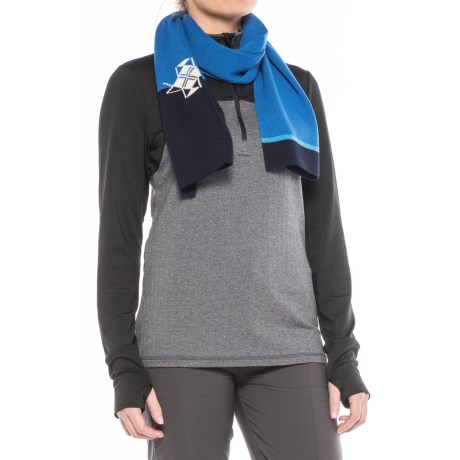 Dale of Norway Elbrus Scarf - New Wool (For Women) in Navy/Cobalt/Sochi Blue/Off White