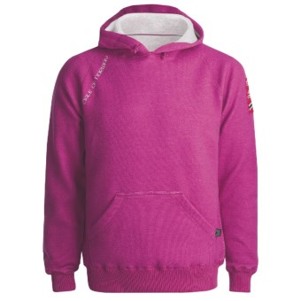 Dale of Norway Folgefonn Merino Fleece Pullover - Hoodie Sweatshirt (For Men and Women) in Fuschia Red