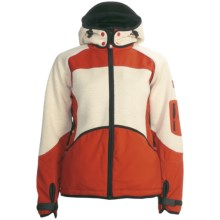 Dale of Norway Gautefall Knitshell Jacket - Windstopper®, Wool (For Women) in Orange/Off White - Closeouts