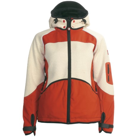 Dale of Norway Gautefall Knitshell Jacket - Windstopper®, Wool (For Women) in Orange/Off White