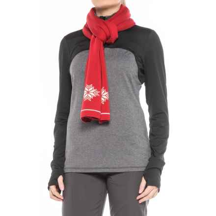 Dale of Norway Geilo Scarf - Merino Wool (For Women) in Raspberry/Off White - Closeouts