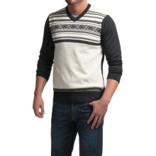 Dale of Norway Haakon Sweater - Merino Wool (For Men) in Grey Melange/Off White - Closeouts