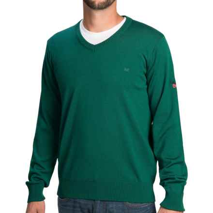 Dale of Norway Harald Sweater - Merino Wool, V-Neck (For Men) in Green - Closeouts