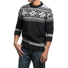 Dale of Norway Haukeli Sweater - Merino Wool (For Men) in Black/Metal/Off White - Closeouts