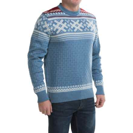 Dale of Norway Haukeli Sweater - Merino Wool (For Men) in Blue Shadow - Closeouts