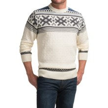 Dale of Norway Haukeli Sweater - Merino Wool (For Men) in Off White - Closeouts