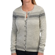 Dale of Norway Hedda Jacket - Merino Wool (For Women) in Smoke/Light Charcoal - Closeouts