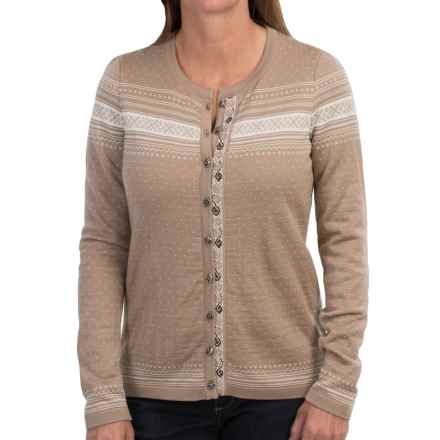 Dale of Norway Hedda Jacket - Merino Wool (For Women) in Warm Taupe/Off White - Closeouts