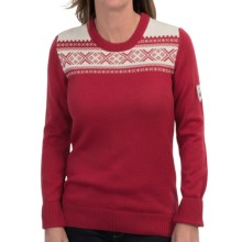 Dale of Norway Hemsedal Sweater - Merino Wool (For Women) in Raspberry/Off White - Closeouts