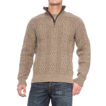 Dale of Norway Henningsvaer Sweater - New Wool, Zip Neck (For Men) in Light Grey - Closeouts