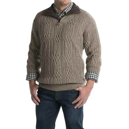 Dale of Norway Henningsvaer Sweater - New Wool, Zip Neck (For Men) in Mountainstone - Closeouts