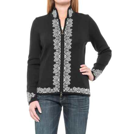 Dale of Norway Ingrid Cardigan Sweater - Merino Wool, Zip Front (For Women) in Black - Closeouts