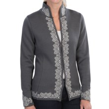 Dale of Norway Ingrid Jacket - Merino Wool (For Women) in Smoke/Light Charcoal - Closeouts