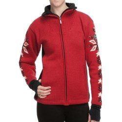 Dale of Norway Istind Windstopper® Jacket (For Women) in Raspberry/Black Cream