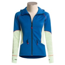 Dale of Norway Jan Mayen Hoodie Sweatshirt - Merino Wool (For Women) in Bright Blue/Cloud - Closeouts