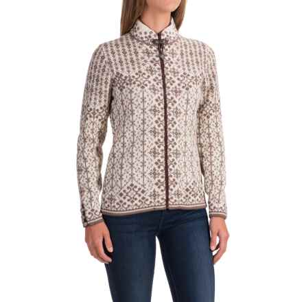 Dale of Norway Kara Jacket - Wool (For Women) in Warm Taupe/Off White - Closeouts