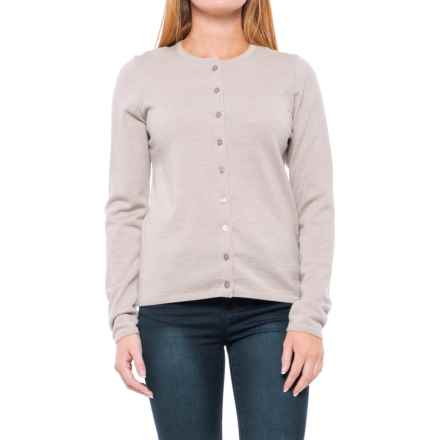 Dale of Norway Marit Cardigan Sweater - Merino Wool (For Women) in Beige Melange - Closeouts