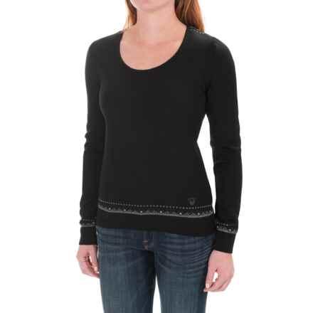 Dale of Norway Mette Sweater - Merino Wool (For Women) in Black/Dark Grey/Light Grey - Closeouts