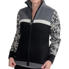 Dale of Norway Nordfjord Cardigan - Merino Wool (For Women) in Metal Grey/Black/Off White - Closeouts